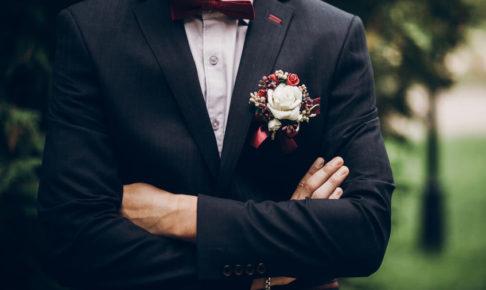 結婚式でスーツが、、